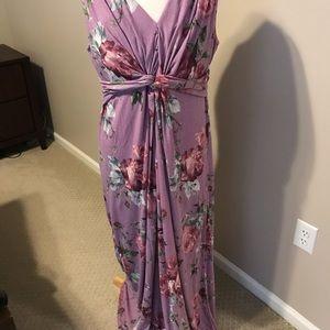 Pinkblush NWT Maternity maxi dress purple XL